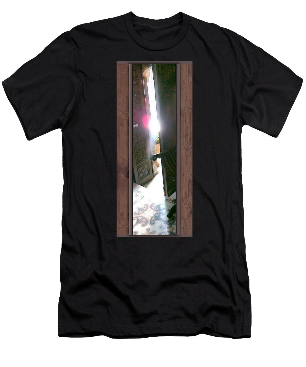 Light Men's T-Shirt (Athletic Fit) featuring the photograph Through The Mirror by Freddy Kirsheh