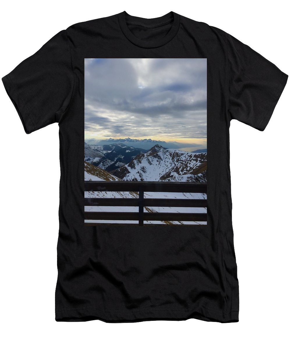 Men's T-Shirt (Athletic Fit) featuring the photograph Through The Mountains by Alayna Kelly