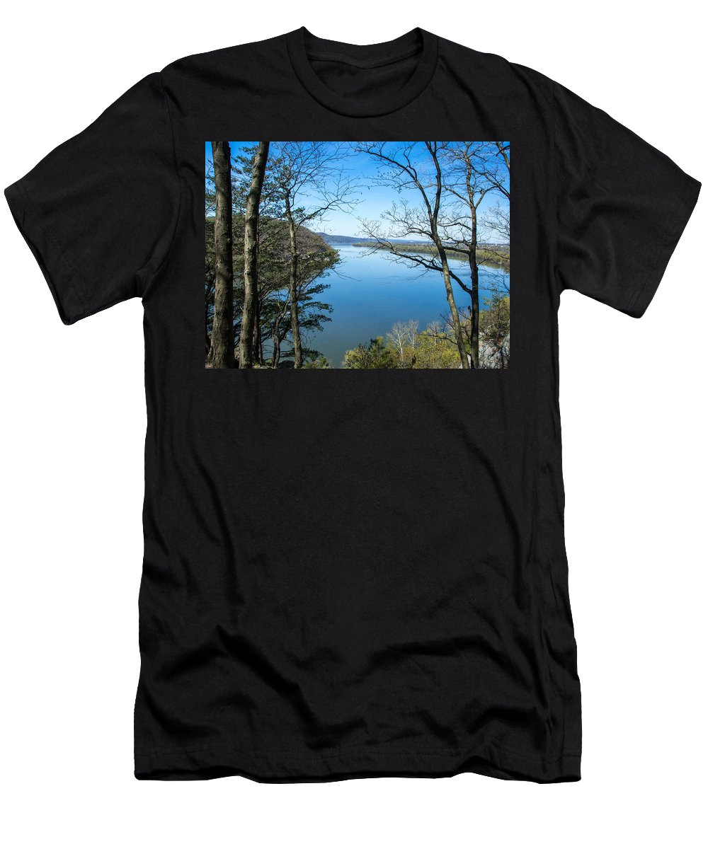 River Men's T-Shirt (Athletic Fit) featuring the photograph Through To The Susquehanna by Jennifer Wick