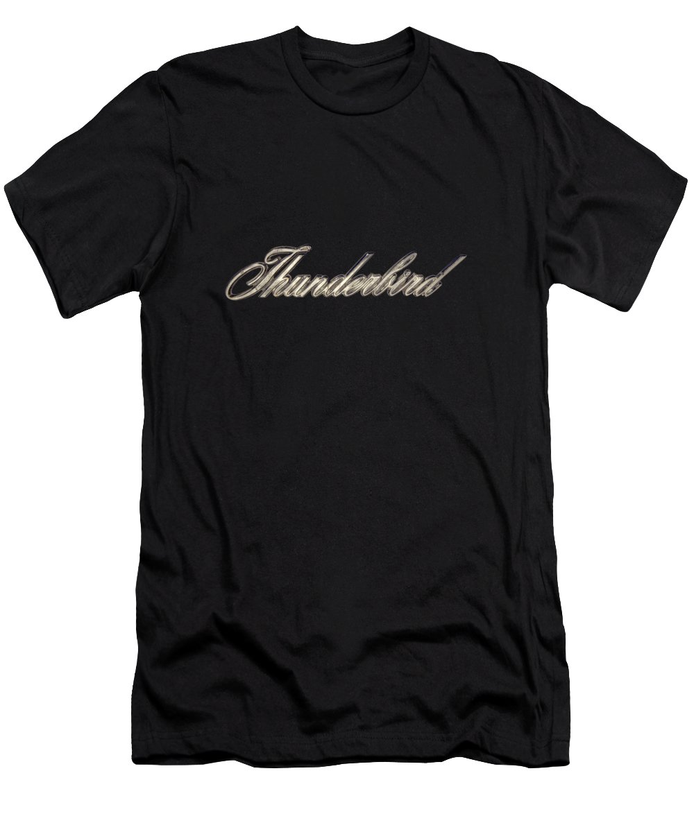 Automotive Men's T-Shirt (Athletic Fit) featuring the photograph Thunderbird Badge by Yo Pedro