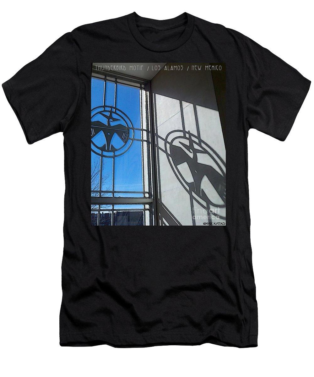 Thunderbird Men's T-Shirt (Athletic Fit) featuring the digital art Thunderbird Motif by Max Katko