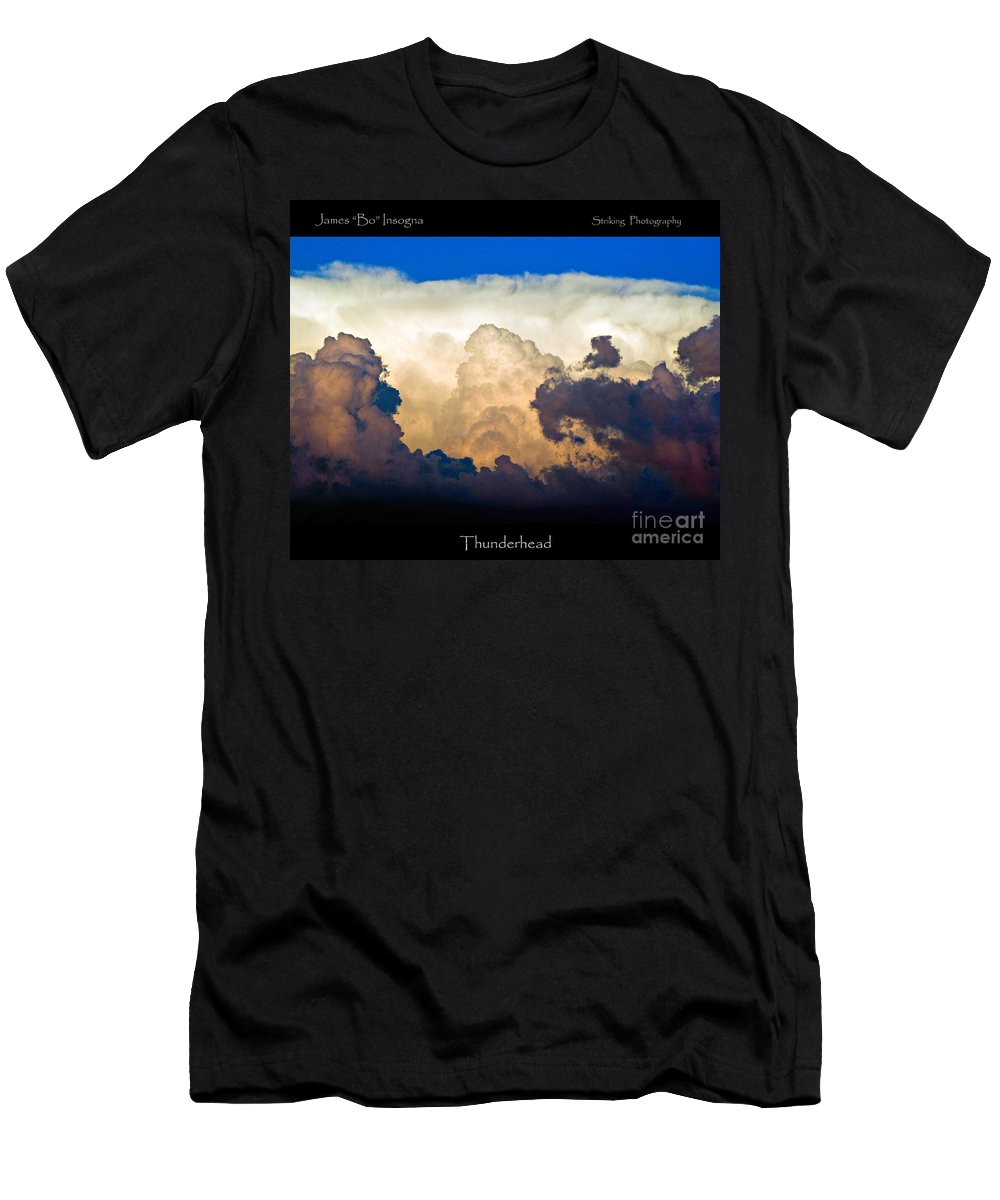 Thunderhead Men's T-Shirt (Athletic Fit) featuring the photograph Thunderhead Cloud Color Poster Print by James BO Insogna