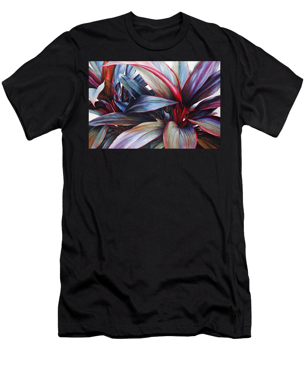 Acrylic Men's T-Shirt (Athletic Fit) featuring the painting Ti In Blue by Sandra Blazel - Printscapes