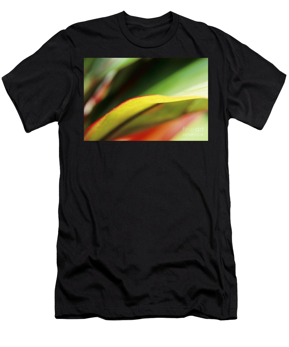 Abstract Men's T-Shirt (Athletic Fit) featuring the photograph Ti-leaf Abstract by William Waterfall - Printscapes