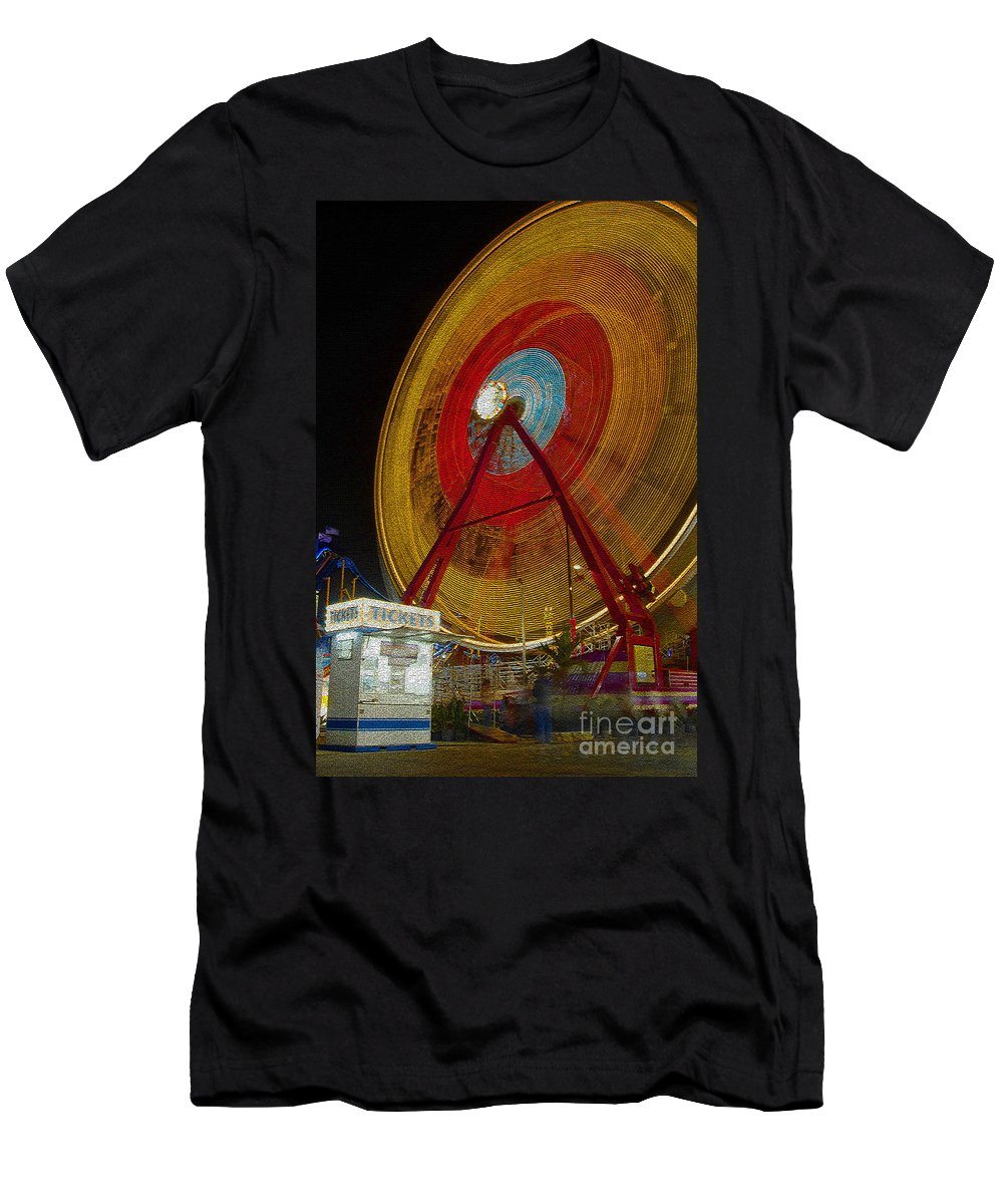 Amusement Ride Men's T-Shirt (Athletic Fit) featuring the photograph Tickets by David Lee Thompson