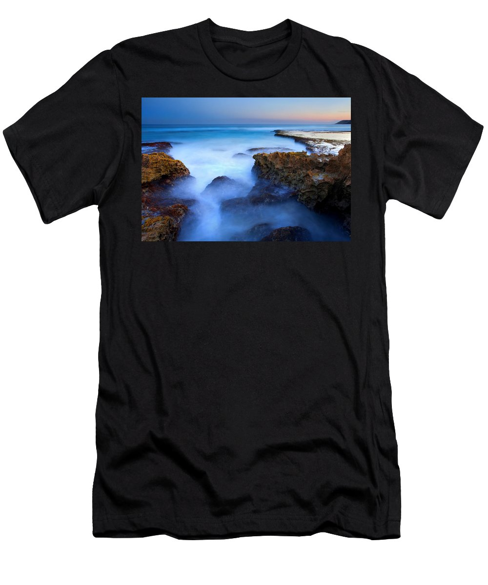 Pennington Bay Men's T-Shirt (Athletic Fit) featuring the photograph Tidal Bowl Boil by Mike Dawson