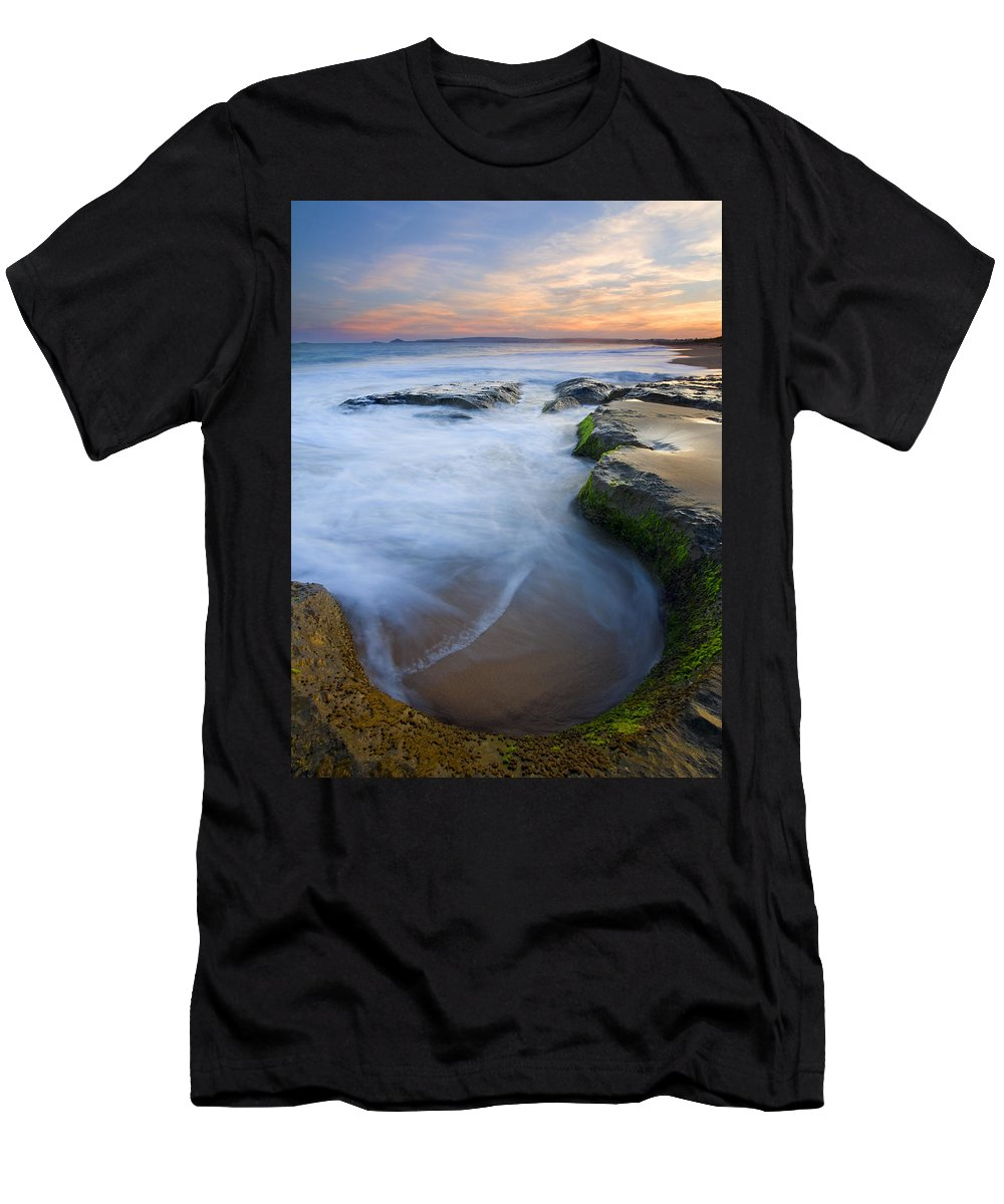 Beach Men's T-Shirt (Athletic Fit) featuring the photograph Tidal Bowl by Mike Dawson