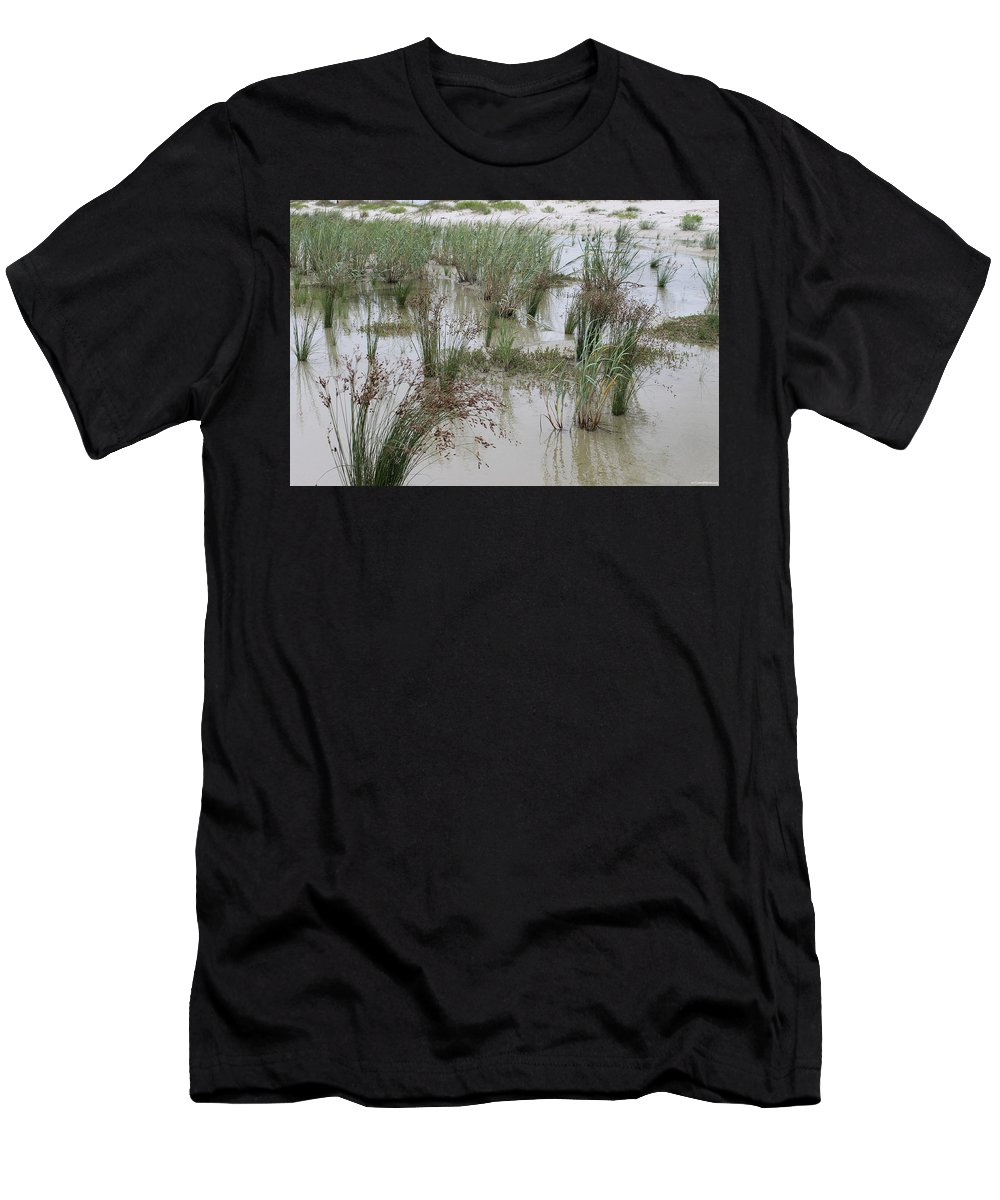 Tidal Pool Men's T-Shirt (Athletic Fit) featuring the photograph Tidal Pool 1 by Laura Martin