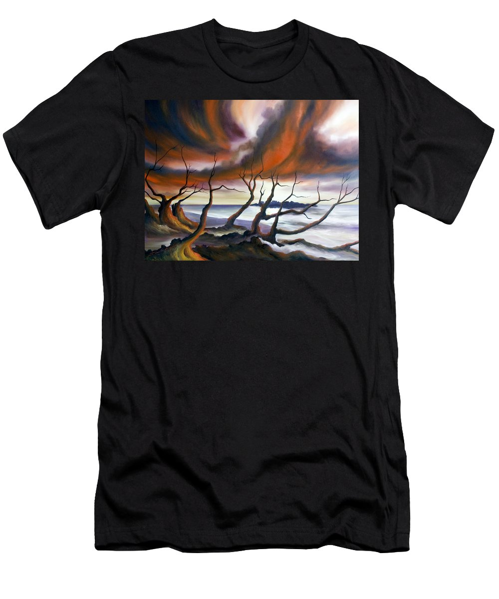 Marsh T-Shirt featuring the painting Tideland by James Christopher Hill