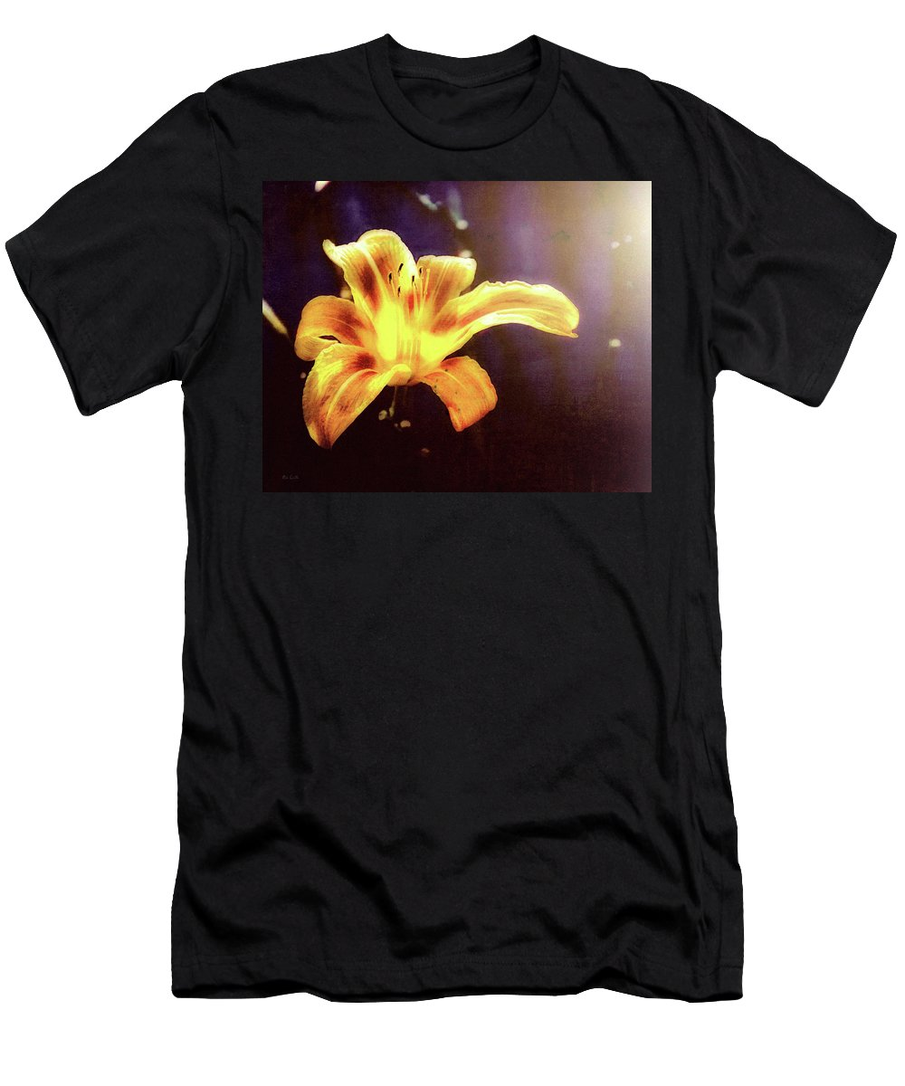 Flowers Men's T-Shirt (Athletic Fit) featuring the photograph Tiger Lily On Waters Edge by Bob Orsillo