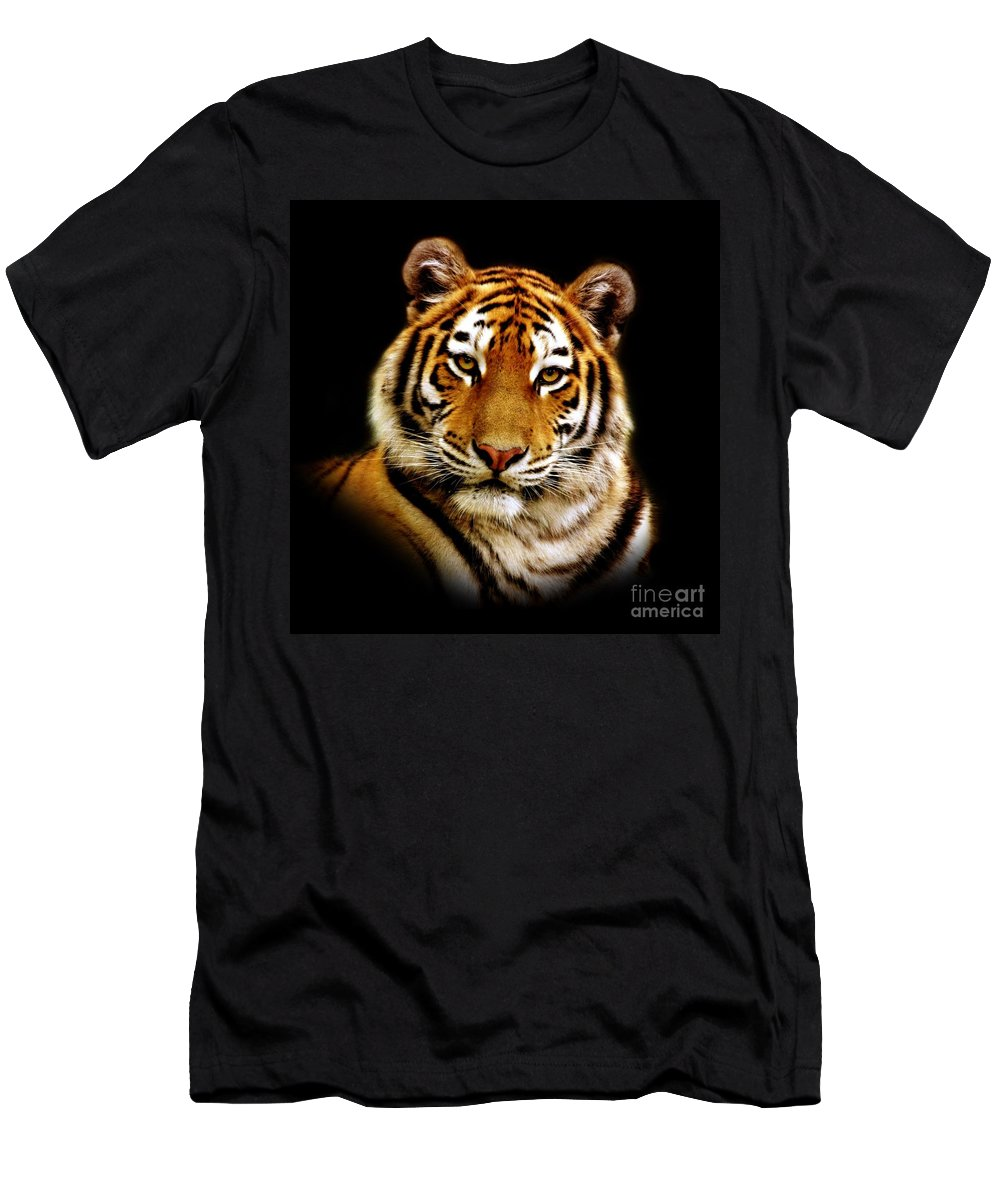 Wildlife Men's T-Shirt (Athletic Fit) featuring the photograph Tiger by Jacky Gerritsen