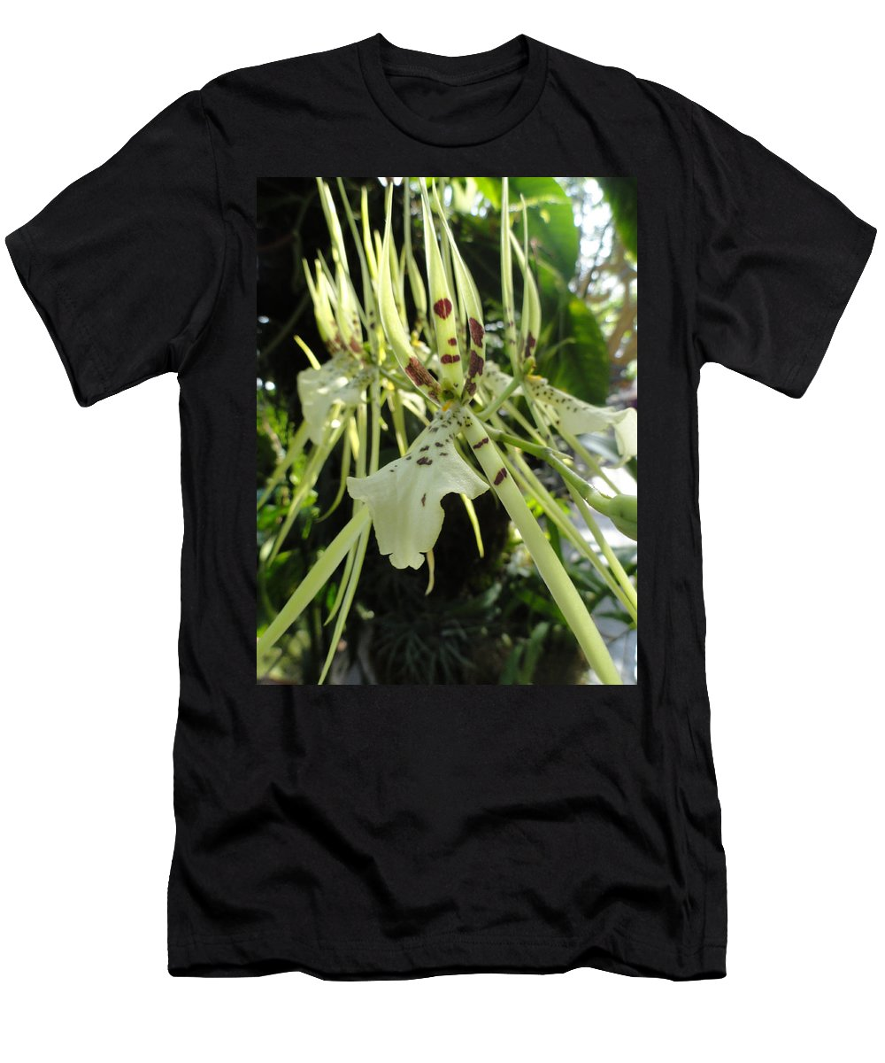 Orchid Men's T-Shirt (Athletic Fit) featuring the photograph Tiger Tongue by Trish Hale