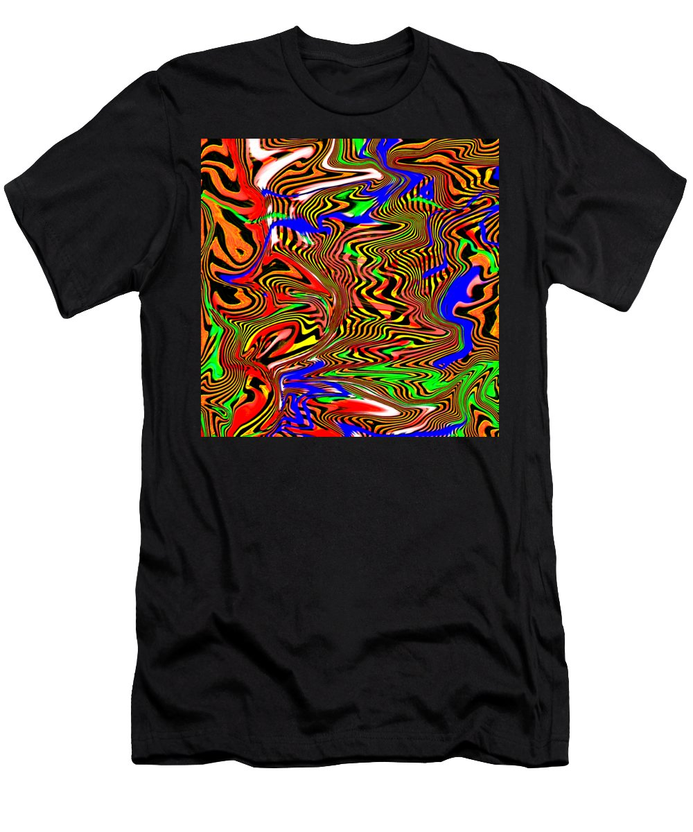 Abstract Men's T-Shirt (Athletic Fit) featuring the digital art Tigstriper by Blind Ape Art