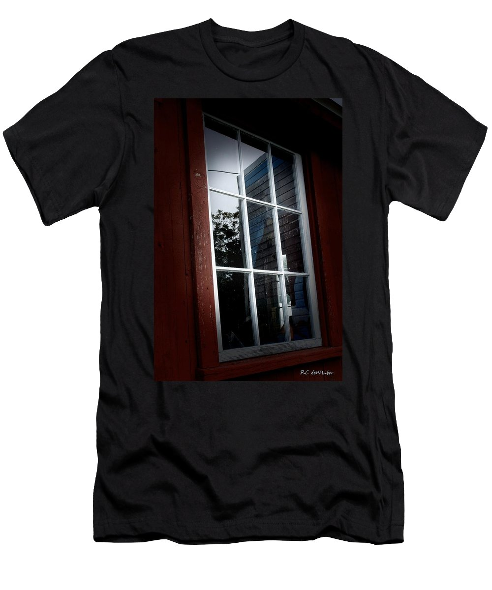 Barn Men's T-Shirt (Athletic Fit) featuring the photograph Tilt by RC DeWinter