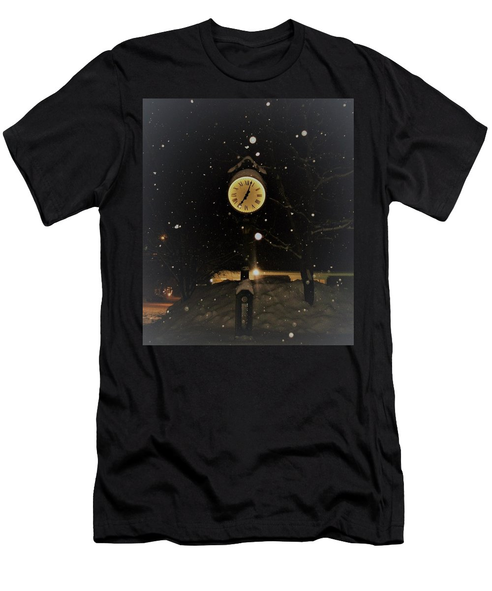 Time Men's T-Shirt (Athletic Fit) featuring the photograph Time by Amanda Johnson