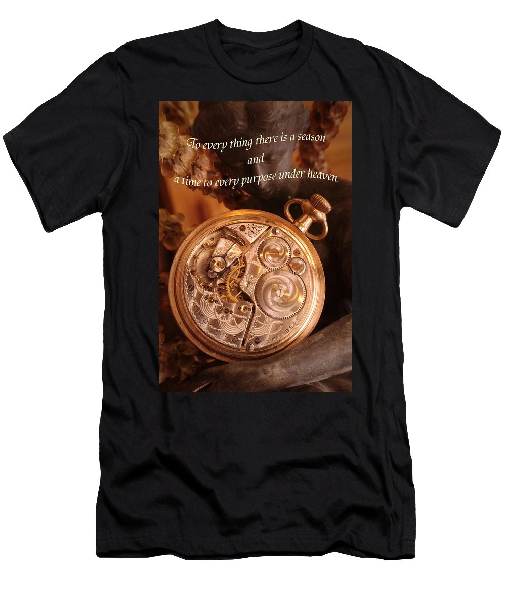 Pocket Watch Men's T-Shirt (Athletic Fit) featuring the photograph Time... by Arthur Miller