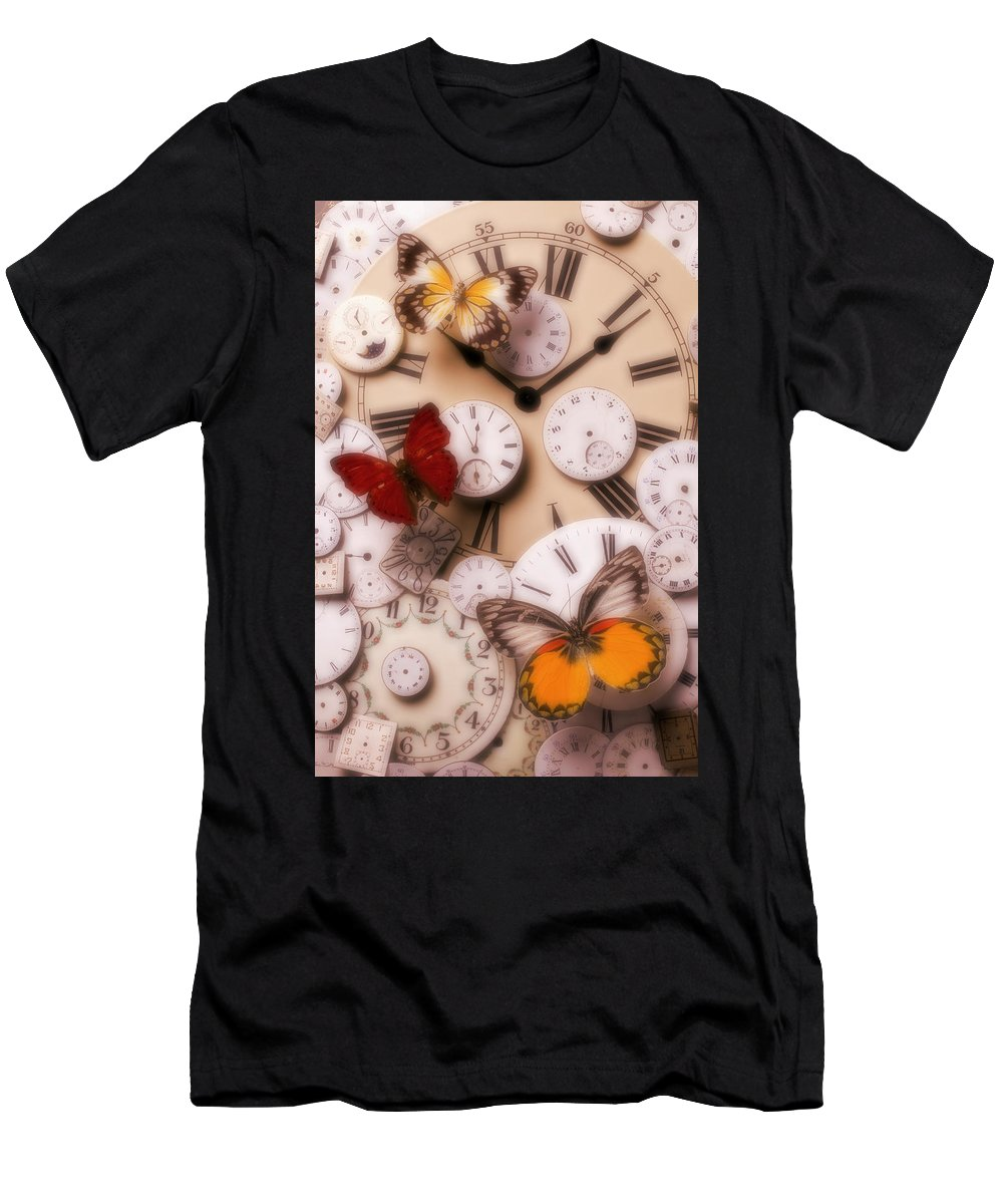 Butterfly Men's T-Shirt (Athletic Fit) featuring the photograph Time Flies by Garry Gay