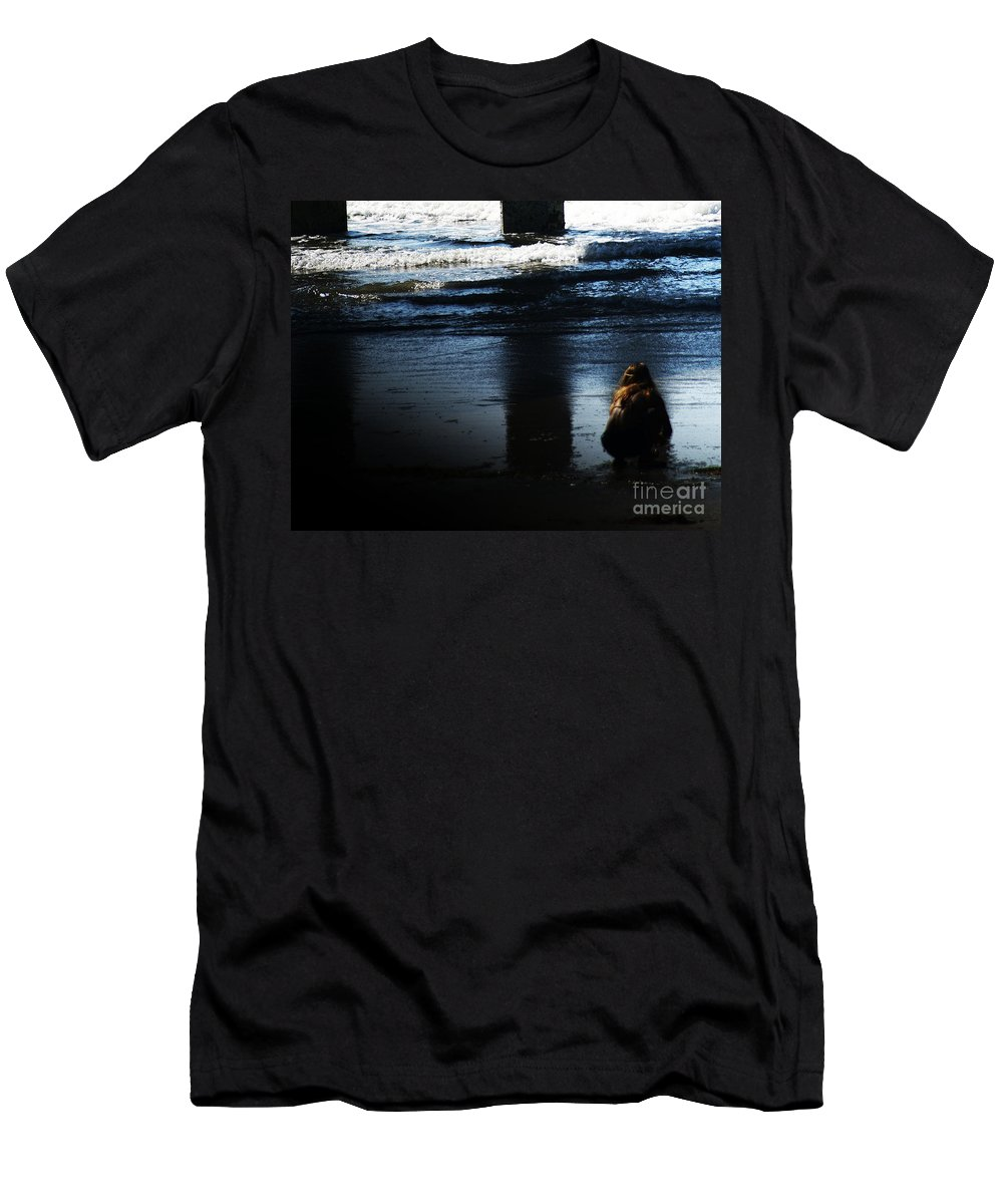 Pacific Men's T-Shirt (Athletic Fit) featuring the photograph Time by Linda Shafer