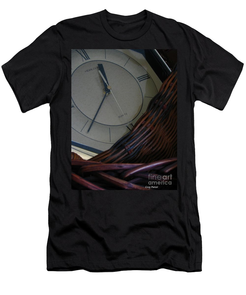 Patzer Men's T-Shirt (Athletic Fit) featuring the photograph Time Standing Still by Greg Patzer