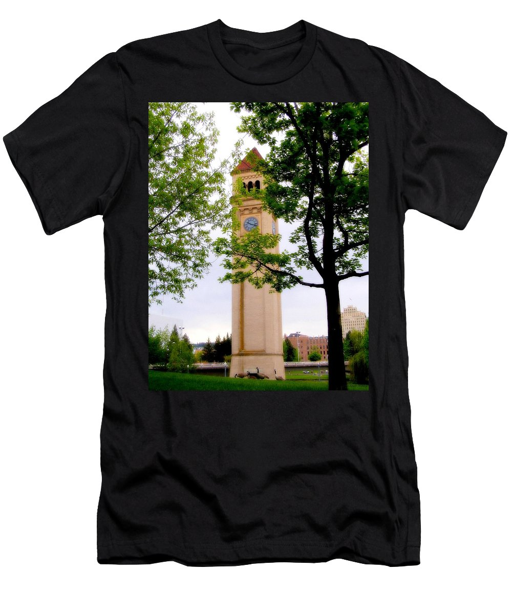 Clock Men's T-Shirt (Athletic Fit) featuring the photograph Time by Susan Kinney