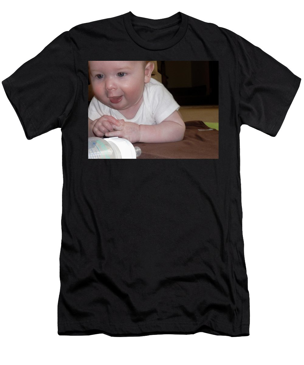 Baby Men's T-Shirt (Athletic Fit) featuring the photograph Time To Hit The Bottle by Vm Vassolo
