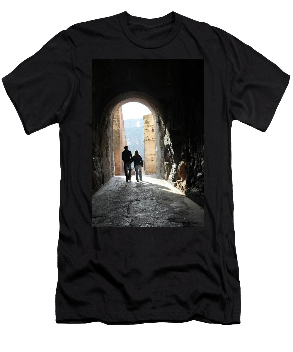 Rome Men's T-Shirt (Athletic Fit) featuring the photograph Time To Leave by Munir Alawi