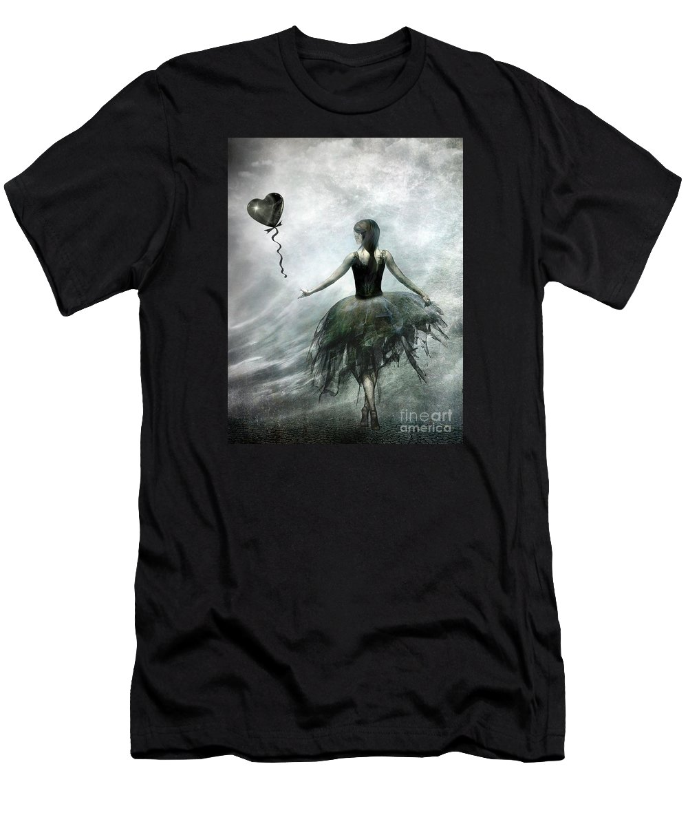 Ballet T-Shirt featuring the painting Time To Let Go by Jacky Gerritsen