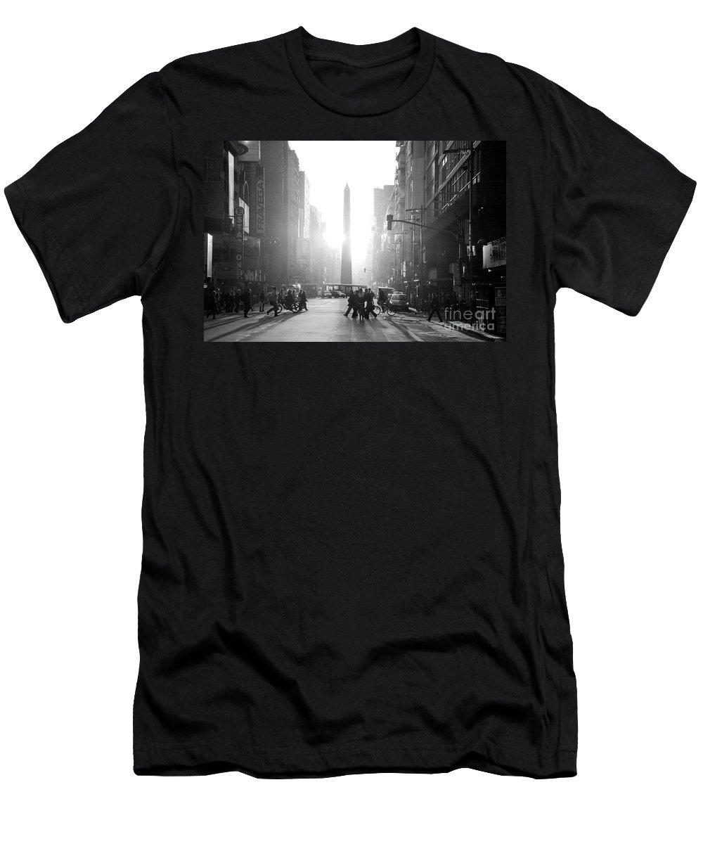 Buenos Aires Men's T-Shirt (Athletic Fit) featuring the photograph Timeless Buenos Aires by Bernardo Galmarini