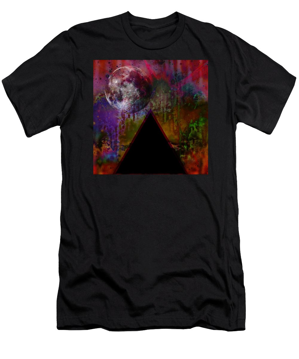 Tipping Point Men's T-Shirt (Athletic Fit) featuring the digital art Tipping Point by Darin Baker