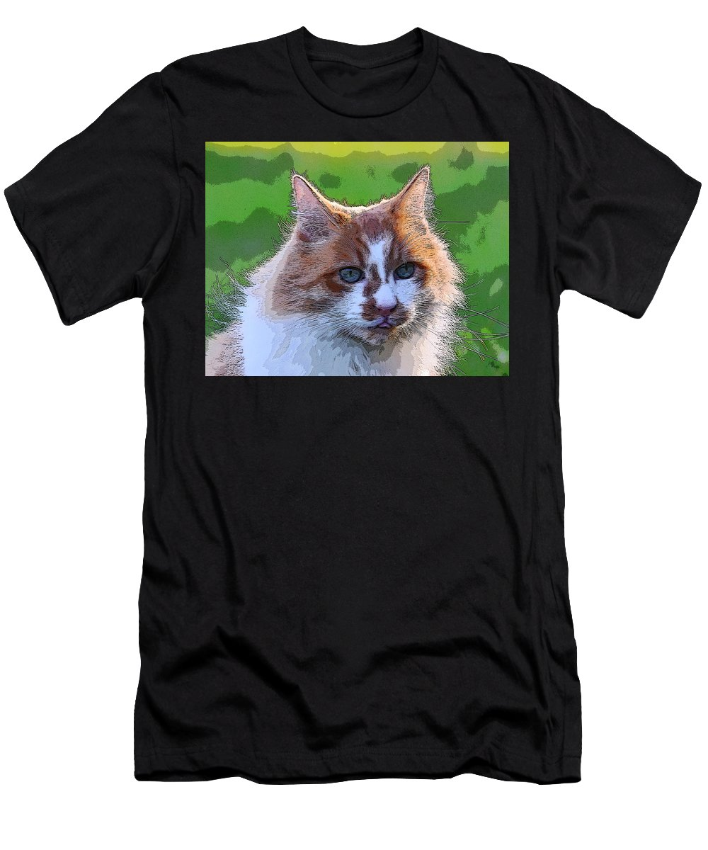 Cat Men's T-Shirt (Athletic Fit) featuring the photograph TJ by Alan C Wade