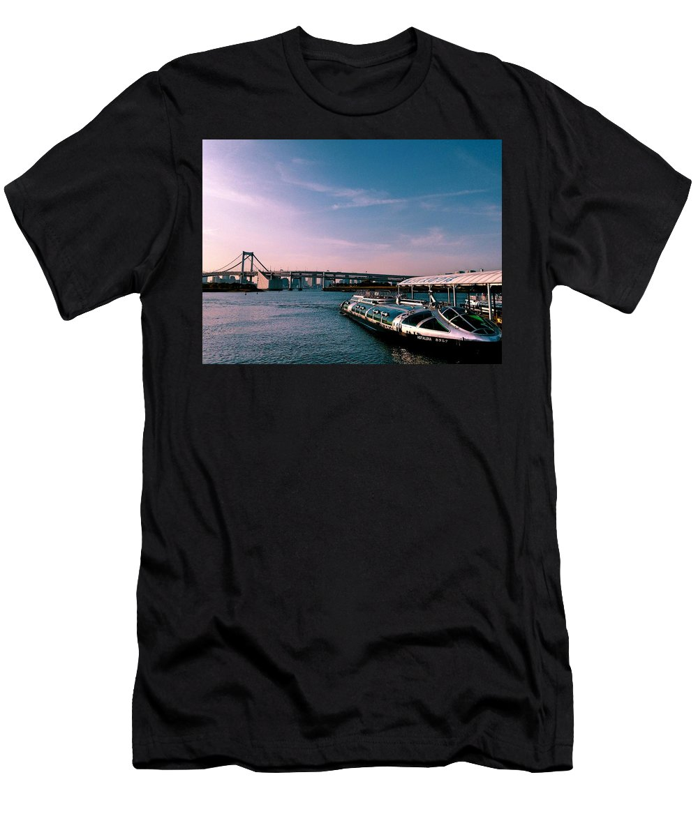 Landscape Men's T-Shirt (Athletic Fit) featuring the photograph To The Space From Sea by Momoko Sano