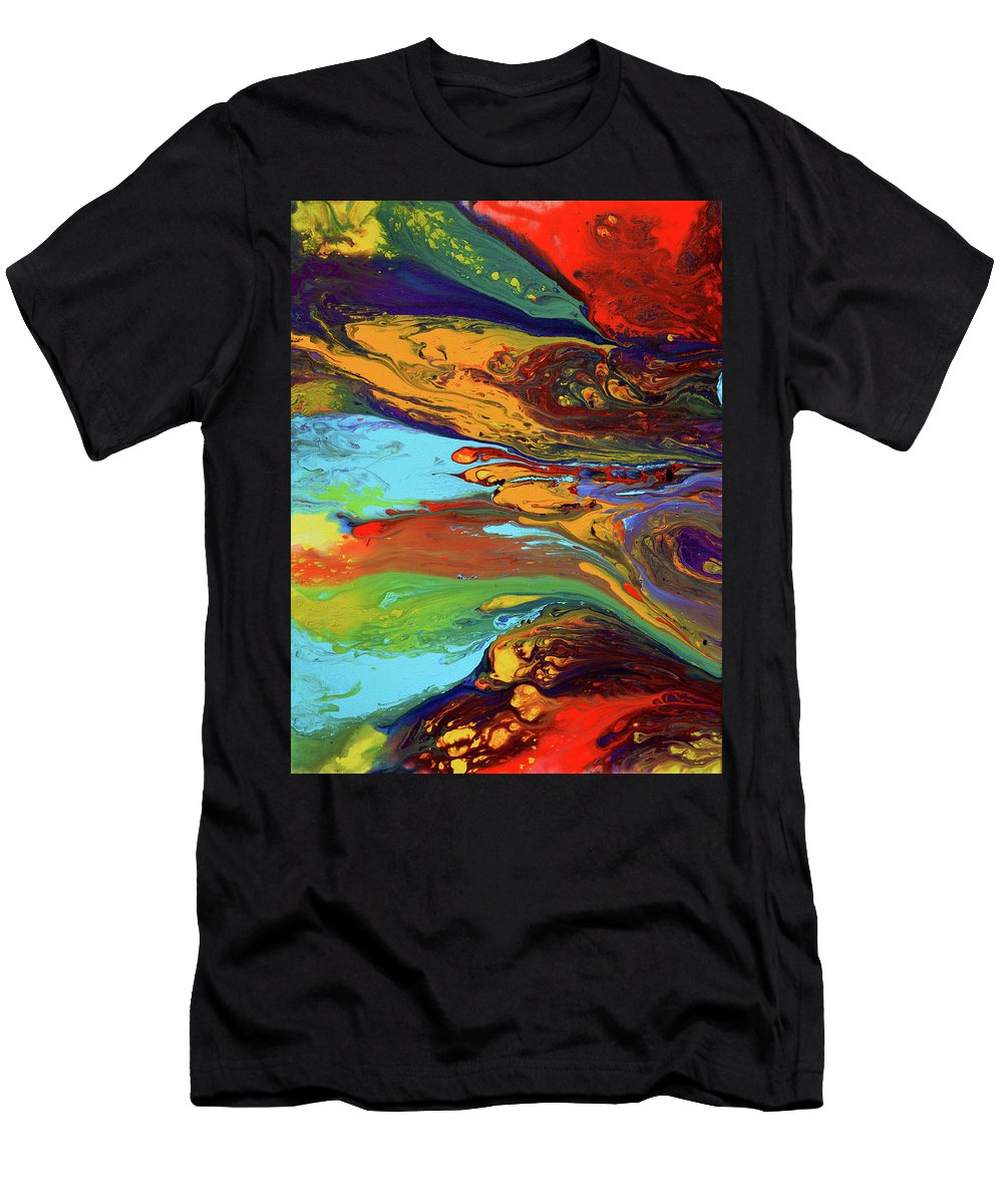 Men's T-Shirt (Athletic Fit) featuring the painting To Wonderland by Destiny Womack