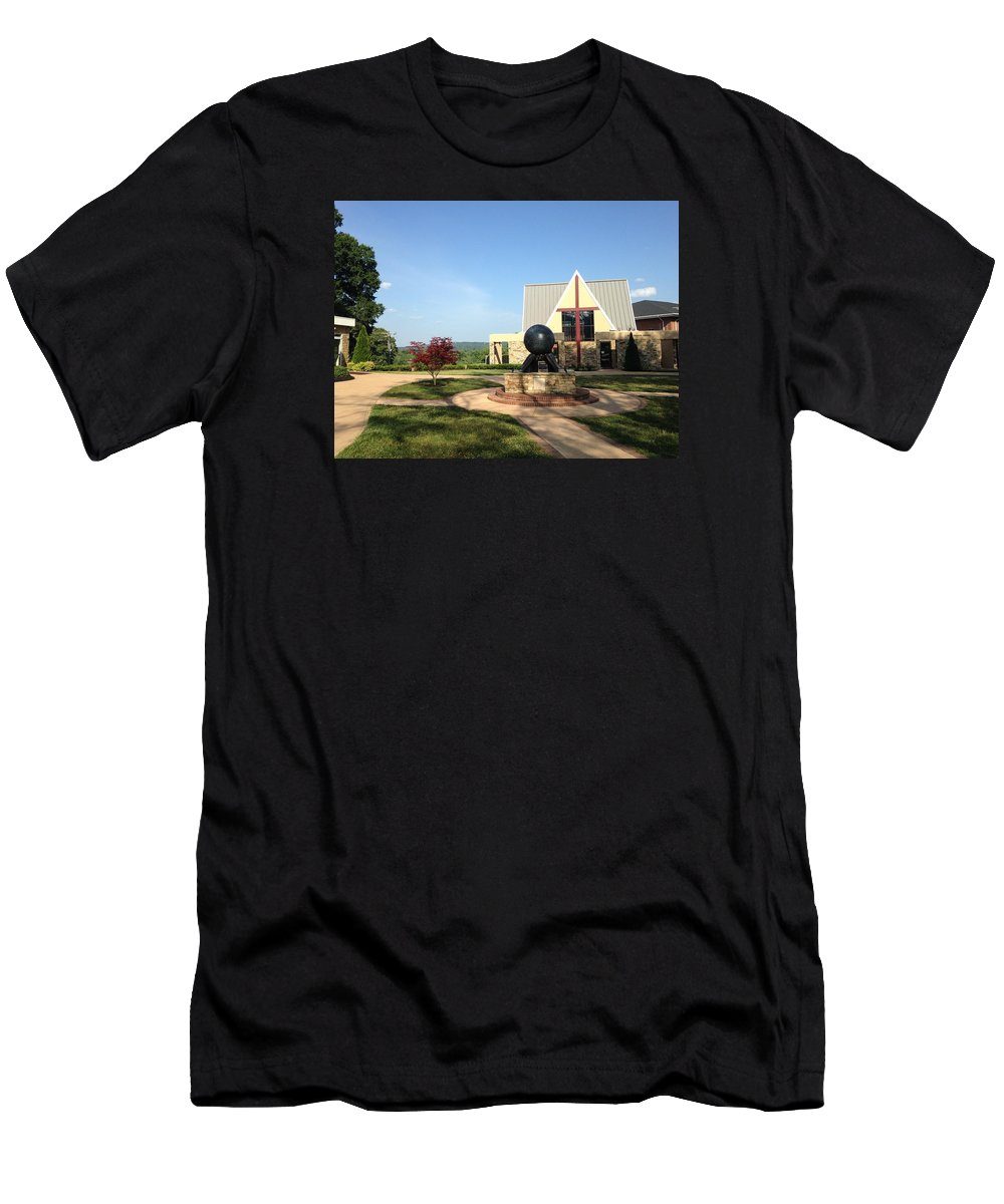 Men's T-Shirt (Athletic Fit) featuring the photograph Todd Prayer Chapel by Avery French