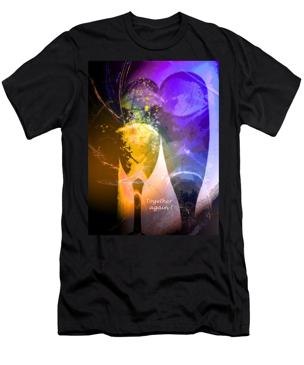 Fantasy Men's T-Shirt (Athletic Fit) featuring the photograph Together Again by Miki De Goodaboom