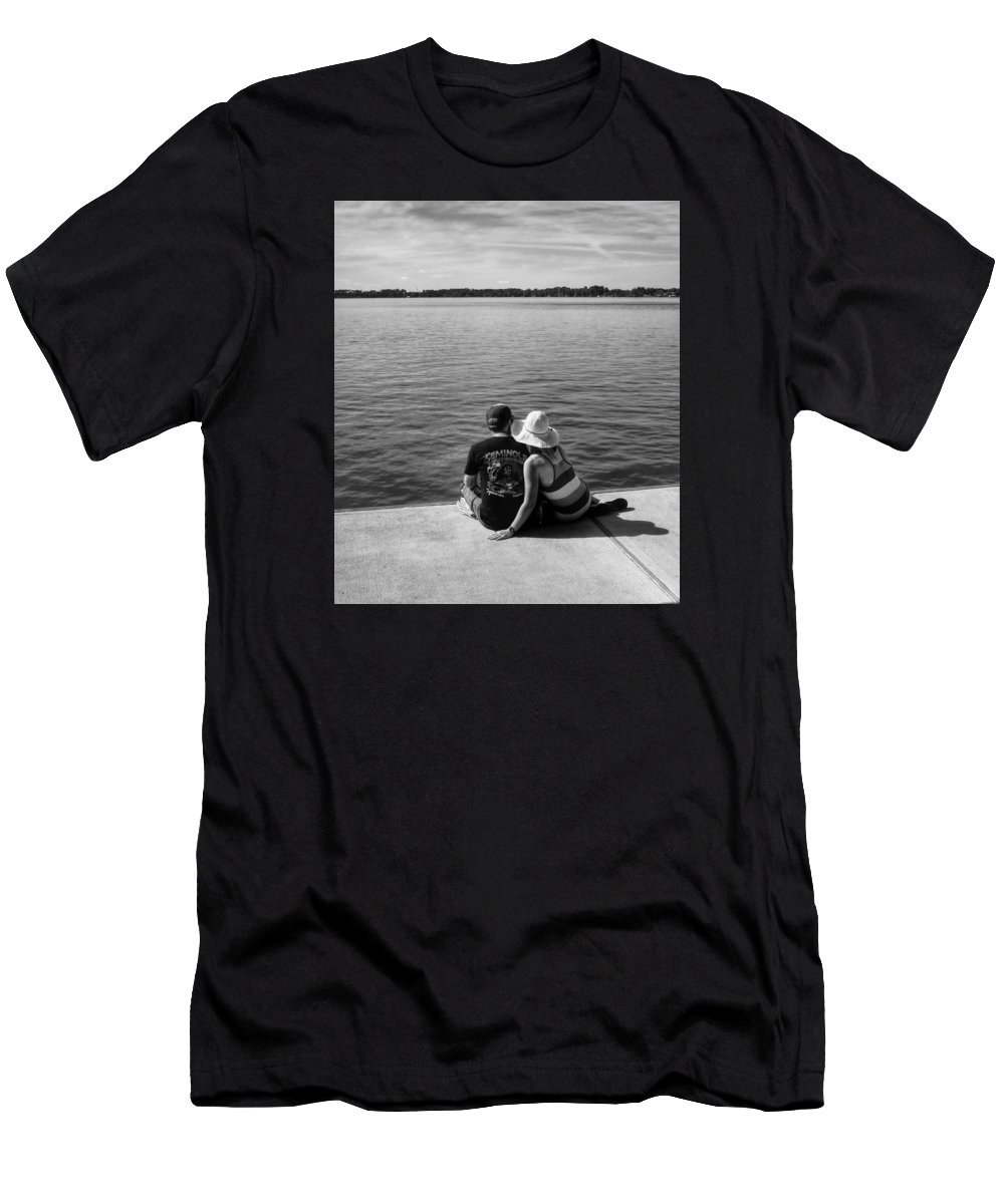 Couple Men's T-Shirt (Athletic Fit) featuring the photograph Together by Dario Boriani