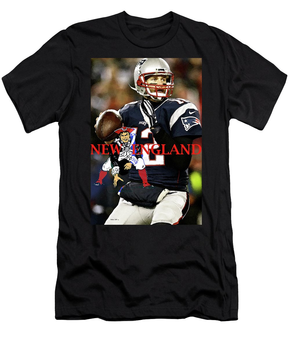 online store afd28 5ece5 Tom Brady, Number 12, New England Patriots, Captain America Men's T-Shirt  (Athletic Fit)