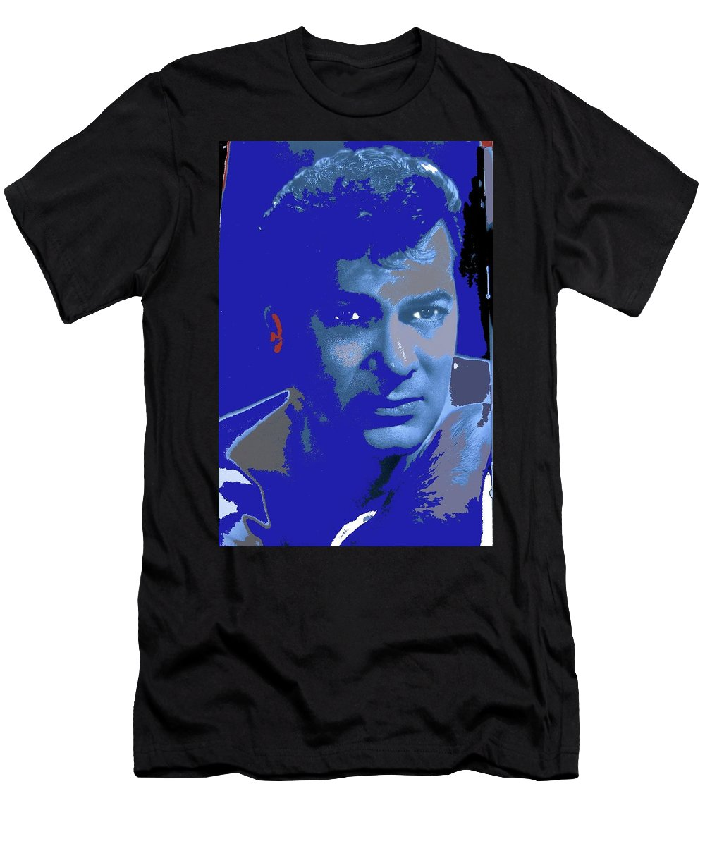 Tony Curtis Circa 1960 Color Added 2012 Men's T-Shirt (Athletic Fit) featuring the photograph Tony Curtis Circa 1960 Color Added 2012 by David Lee Guss