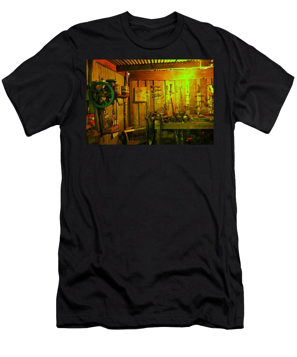 Shed Men's T-Shirt (Athletic Fit) featuring the photograph Tool Shed by Jeff Swan