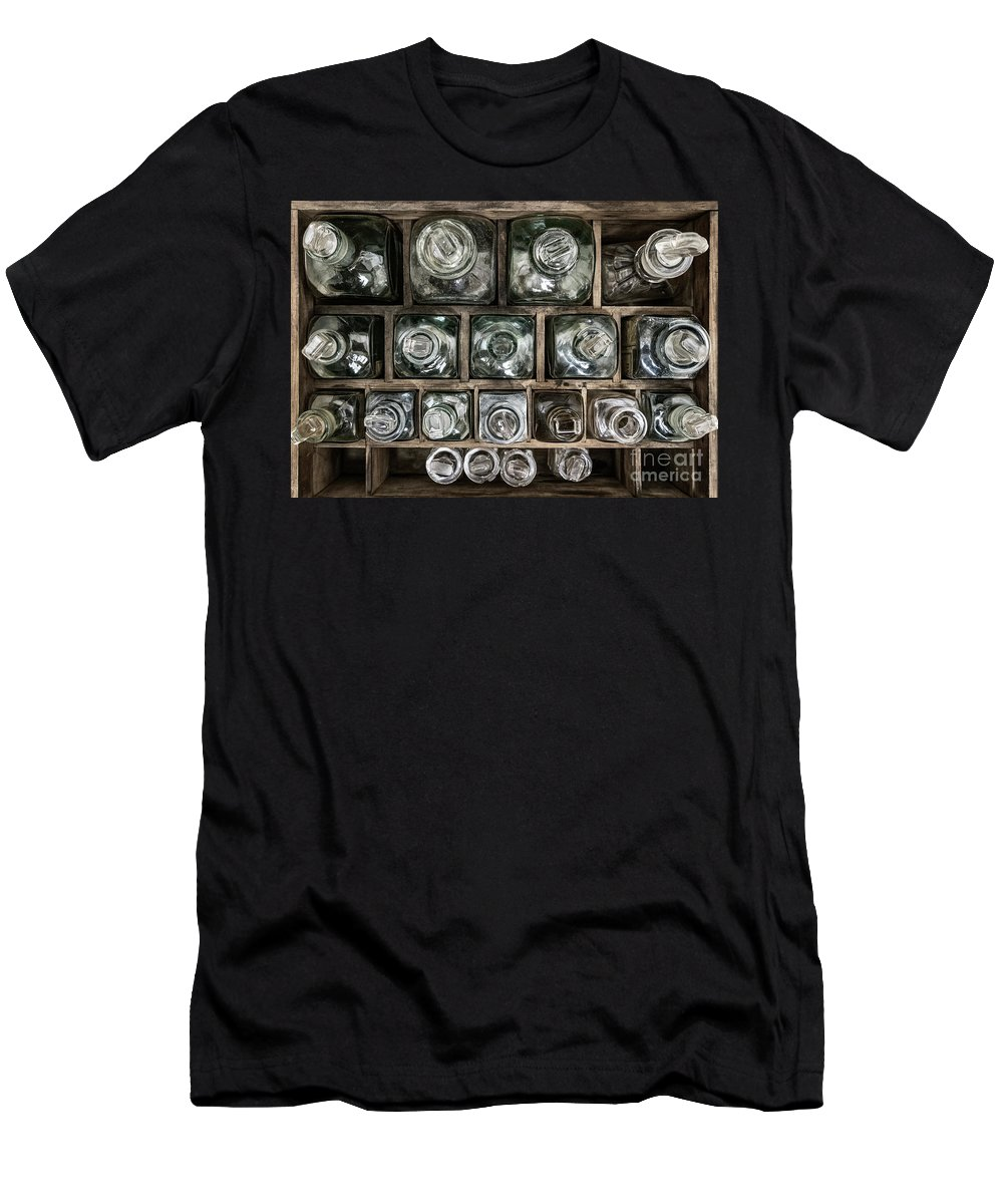 Atmospheric Men's T-Shirt (Athletic Fit) featuring the photograph Top Down View by Brad Allen Fine Art