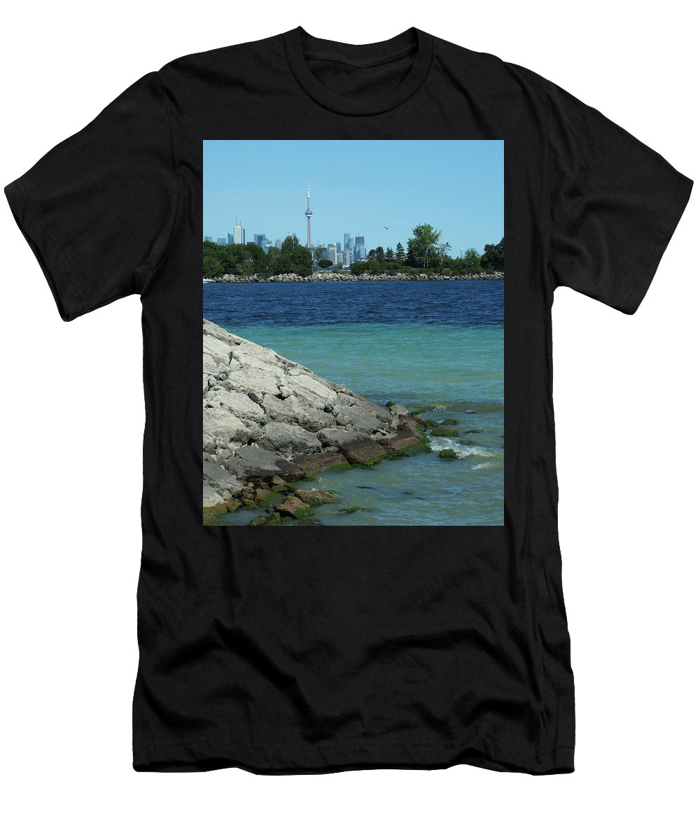 Toronto Men's T-Shirt (Athletic Fit) featuring the photograph Toronto Shoreline by BiR Fotos