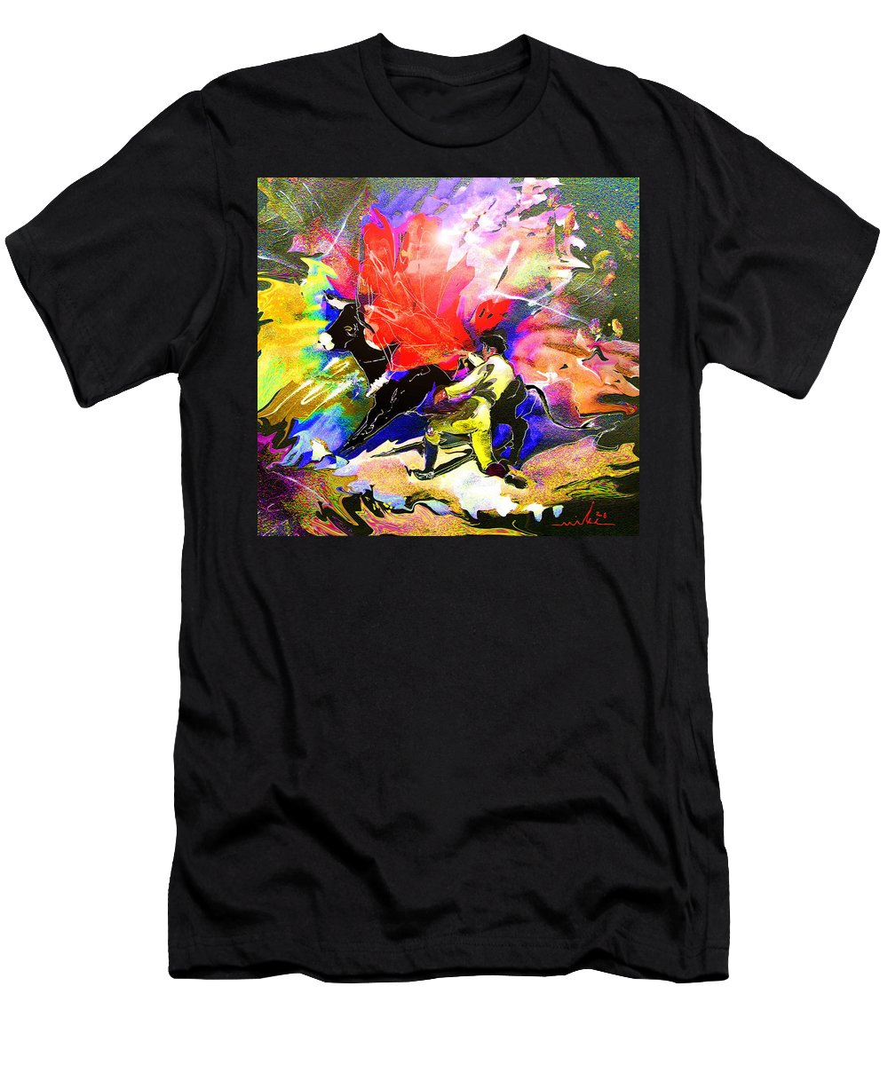 Animals Men's T-Shirt (Athletic Fit) featuring the painting Toroscape 06 by Miki De Goodaboom