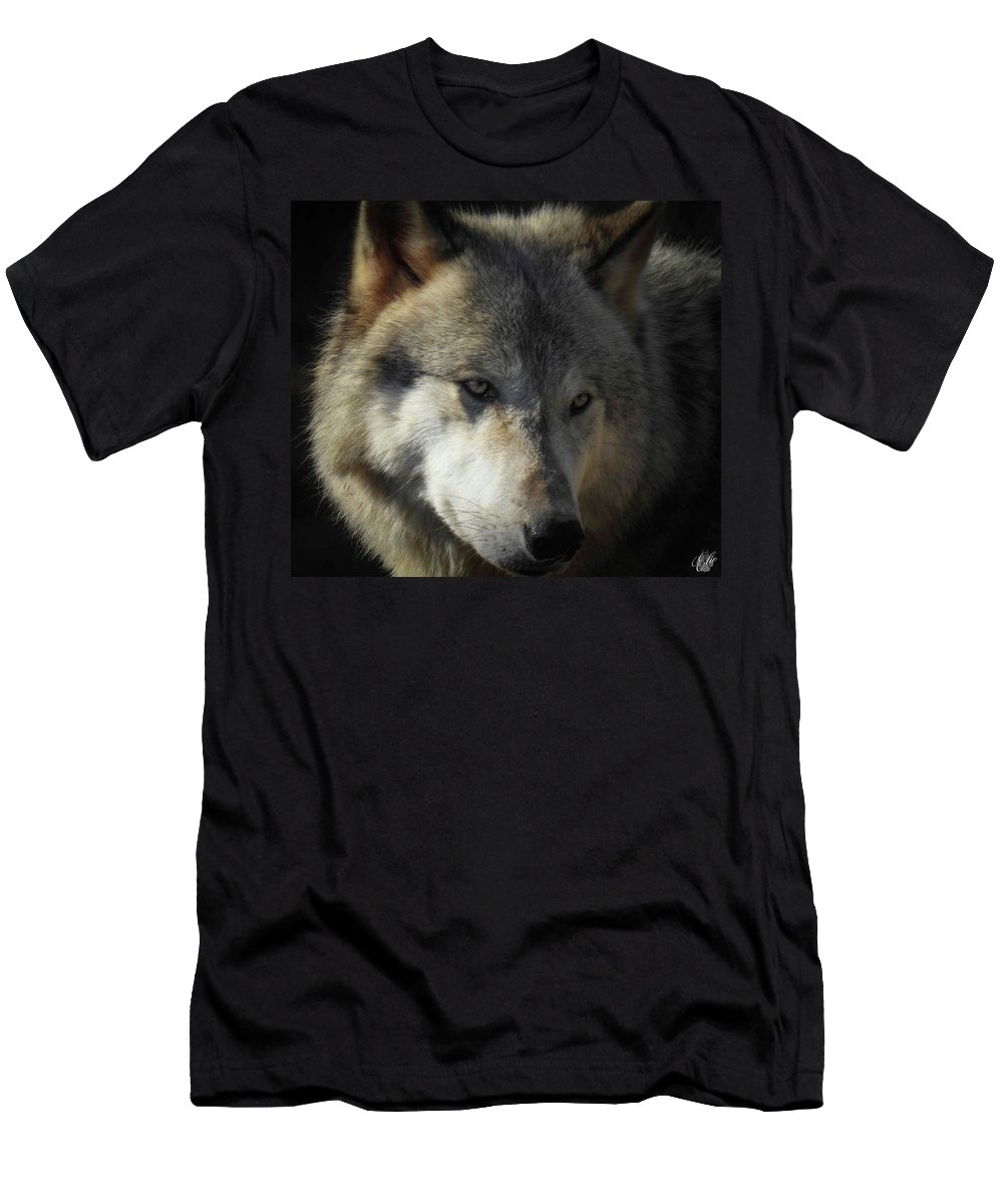 Wolves Men's T-Shirt (Athletic Fit) featuring the photograph Totem, No. 3 by Elie Wolf