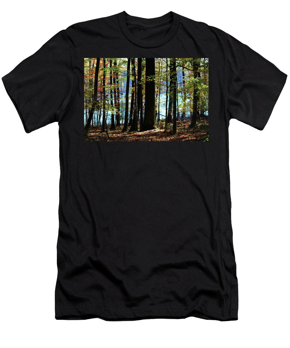 Autumn Men's T-Shirt (Athletic Fit) featuring the photograph Touch Of Autumn by Lori Tambakis