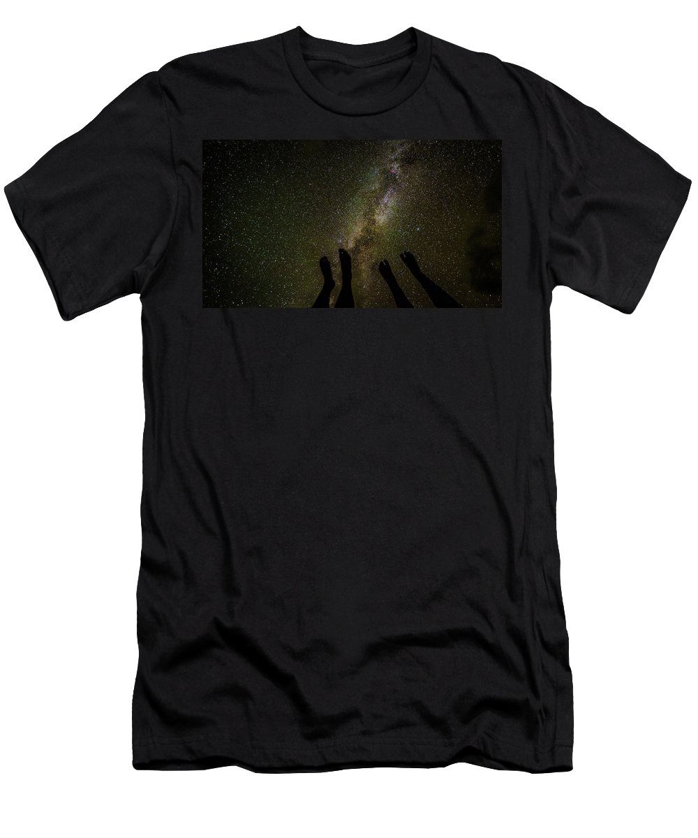 Space Men's T-Shirt (Athletic Fit) featuring the photograph Touchdown by T Brian Jones