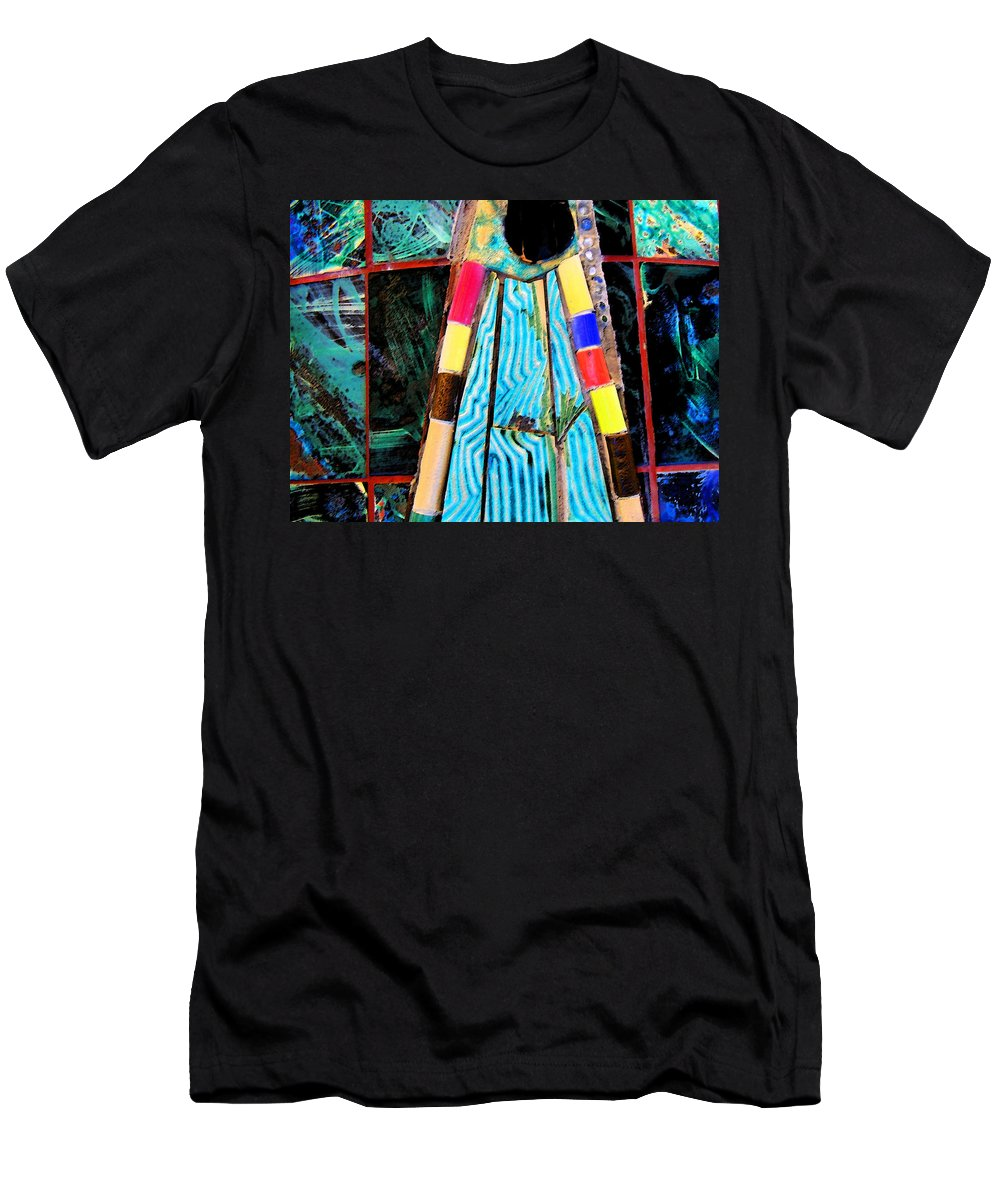 Abstract Men's T-Shirt (Athletic Fit) featuring the photograph Touching My Toes by Lenore Senior
