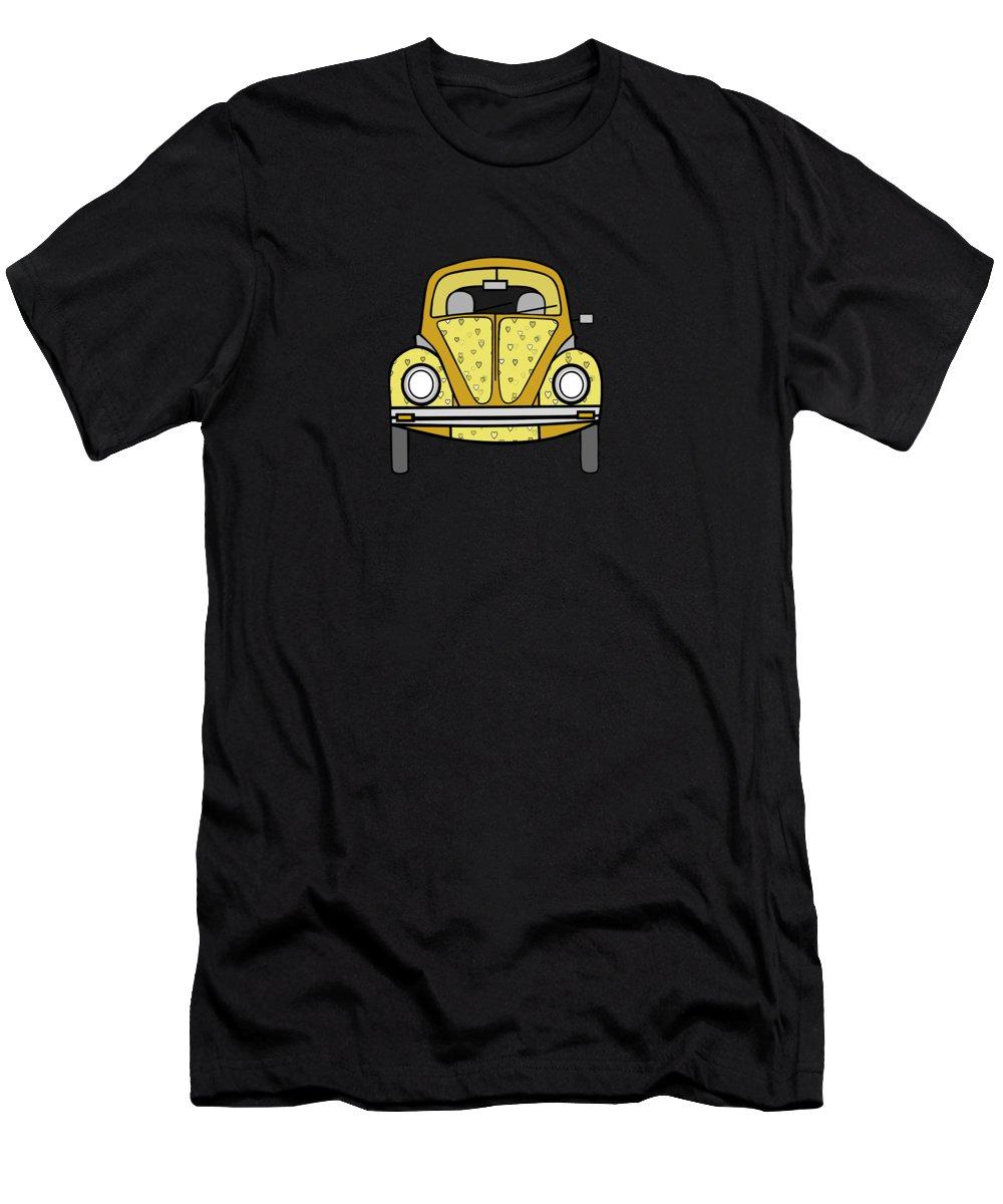 Cute Car Art Men's T-Shirt (Athletic Fit) featuring the digital art Tour Time by Kathleen Sartoris