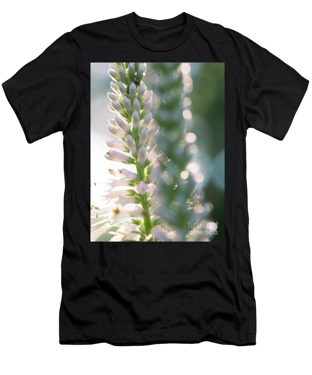 Ohio Flower Men's T-Shirt (Athletic Fit) featuring the photograph Towering Flowers by Michelle Himes