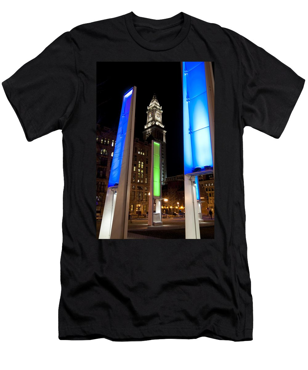 Light Men's T-Shirt (Athletic Fit) featuring the photograph Towers Of Light by Greg Fortier