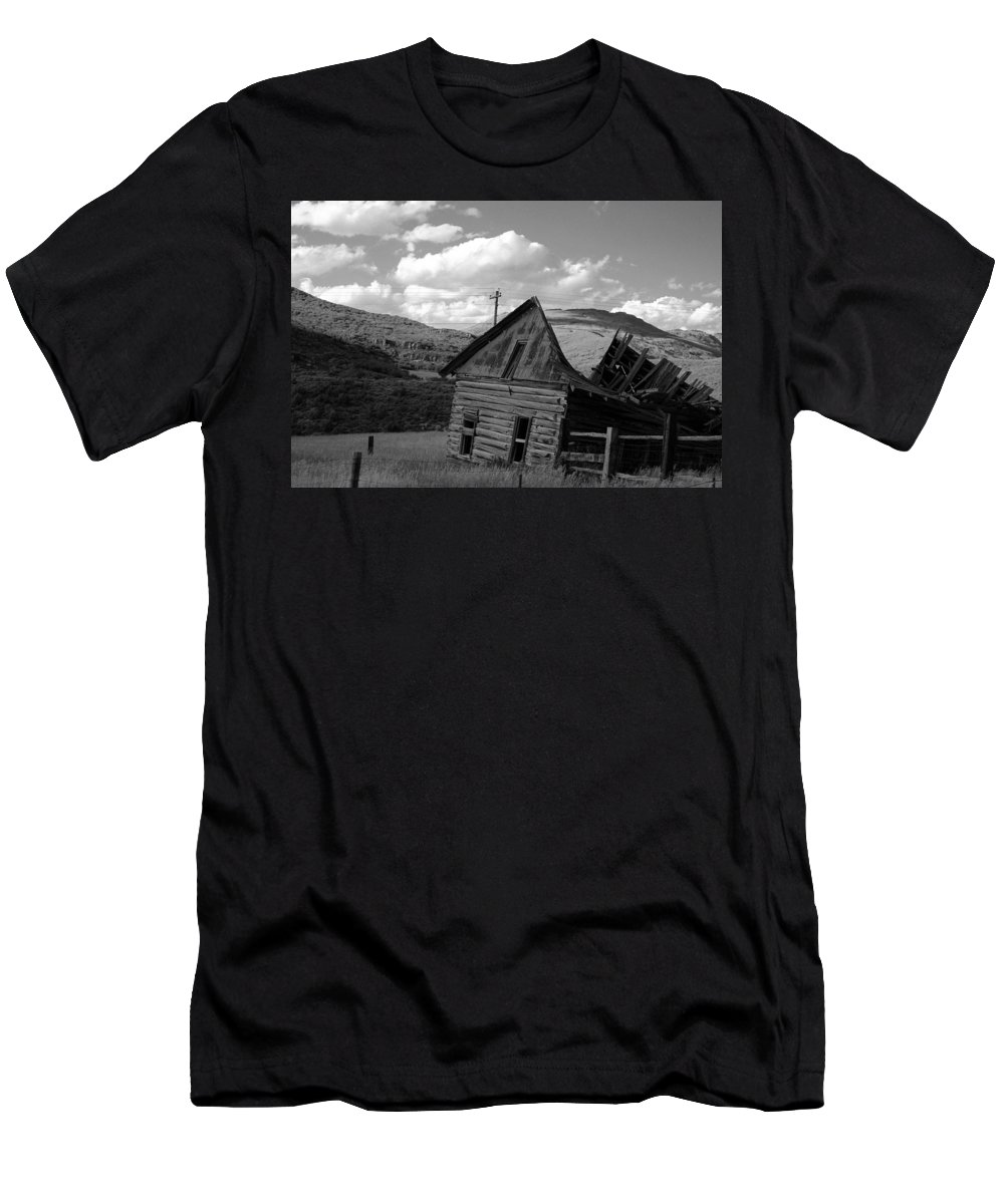Landscape Men's T-Shirt (Athletic Fit) featuring the photograph Traces Of The Past by Samantha Burrow