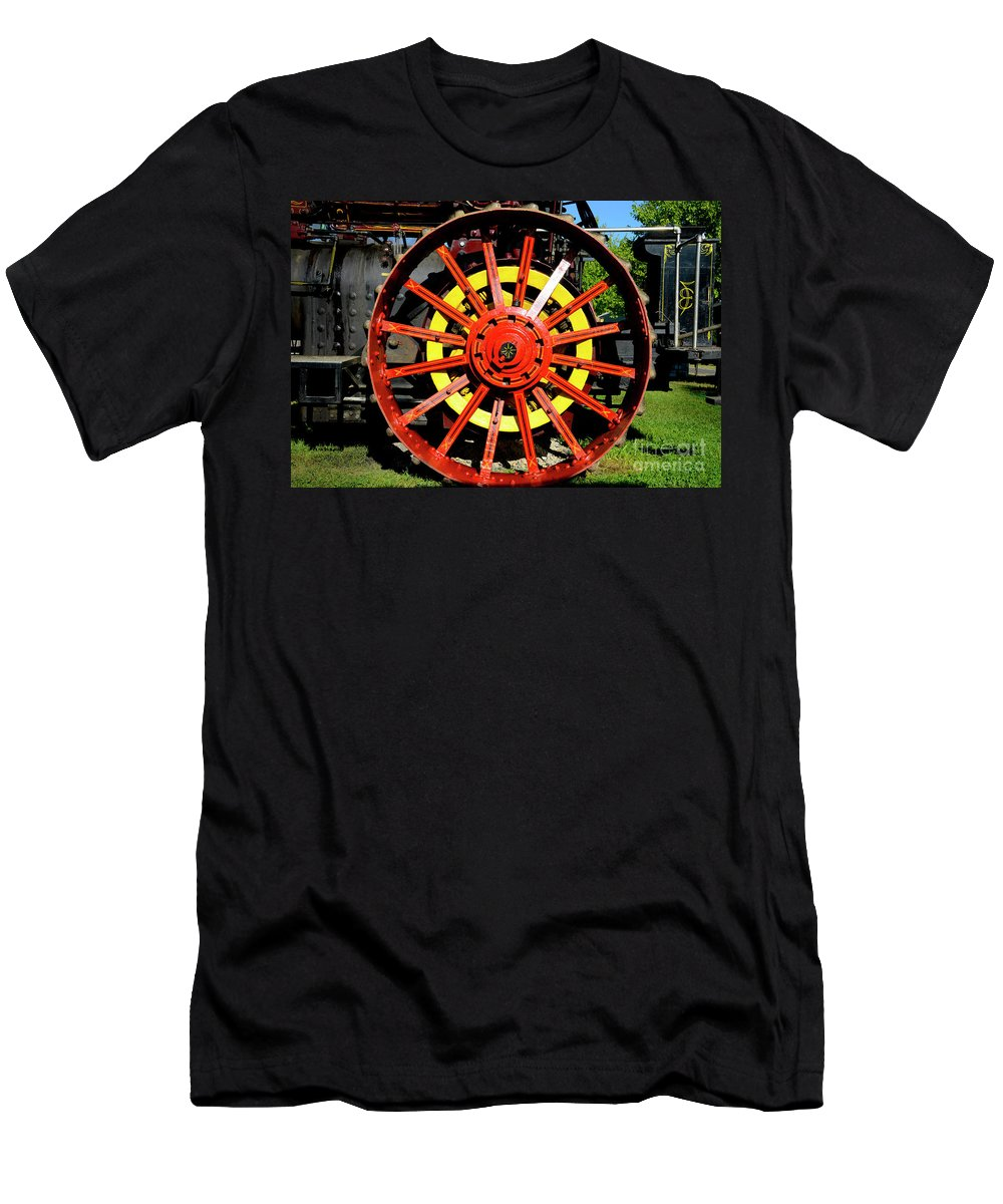 Tractor Men's T-Shirt (Athletic Fit) featuring the photograph Tractor Big Wheel by Paul W Faust - Impressions of Light